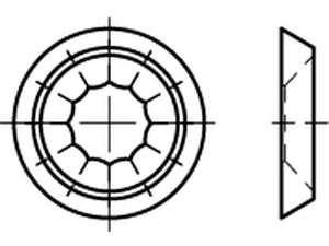 Rosettescheiben Form R4 Messing galvanisch vernickelt