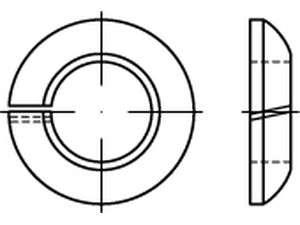 DIN 74361 Federringe Form C Stahl galvanisch verzinkt