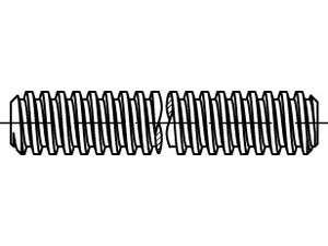 DIN 975 Gewindestangen mit Trapezgewinde Stahl 1m