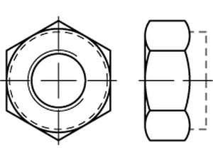UNF ähnlich DIN 985 Sechskantmuttern mit Klemmteil 8.8 verzinkt