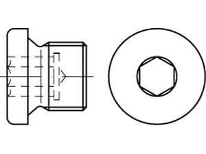 DIN 908 Verschlussschrauben mit Bund und Innensechskant 5.8 verzinkt