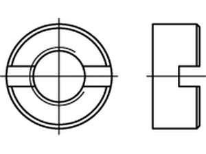 DIN 546 Schlitzmuttern Stahl galvanisch verzinkt
