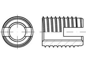 Ensat Gewindeeinsätze S Typ 302 Edelstahl 1.4305