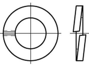 DIN 127 Federringe verzinkt B
