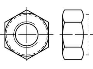 DIN 982 Sechskantmuttern mit Klemmteil Stahl Klasse 8 galvanisch verzinkt