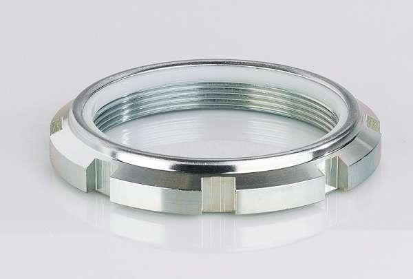 Selbstsichernde Nutmuttern - GUK Stahl 14 H verzinkt und passiviert