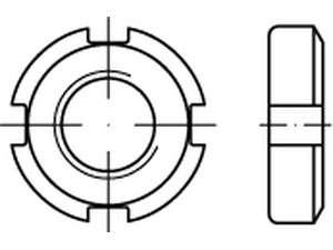 DIN 70852 Nutmuttern Stahl 17 H