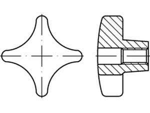DIN 6335 Kreuzgriffe Form D Grauguss