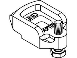 LINDAPTER-Klemme D2 galvanisch verzinkt