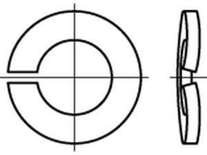 DIN 128 Federringe Federstahl A