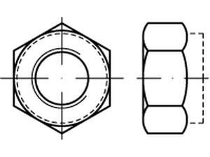 DIN 6925 Stopmutter Ganzmetall Form V Kl.8 verzinkt