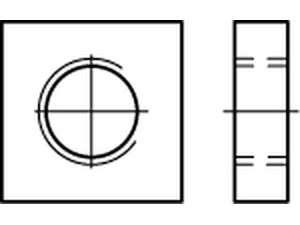 DIN 562 Vierkantmuttern Edelstahl A4