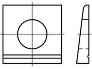 DIN 435 Scheiben vierkant Neigung 14% Edelstahl A2