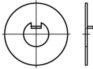 DIN 462 Scheibe mit Innennase Stahl
