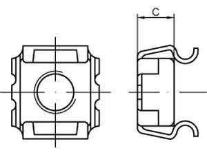 Käfigmuttern Typ SMG Stahl galvanisch verzinkt