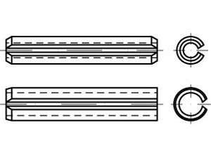 ISO 13337 Spannstift Federstahl