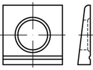 DIN 6917 HV Scheiben vierkant keilförmig 14 % Stahl feuerverzinkt