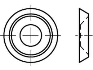 Rosettescheiben Vollmetall gedreht Edelstahl A1
