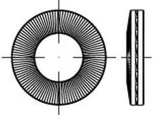 NORD-LOCK X - series Keilsicherungsfederscheiben zinklamellenbeschichtet