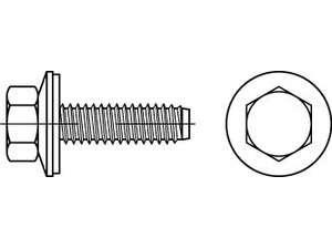 Fassadenschrauben Form BZ mit Zapfen und Dichtscheibe Edelstahl A2