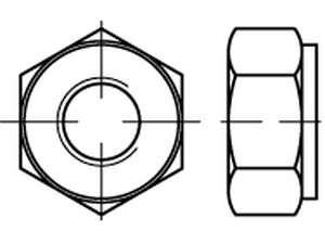 DIN 2510 Sechskantmuttern für Schraubenbolzen mit Dehnschaft
