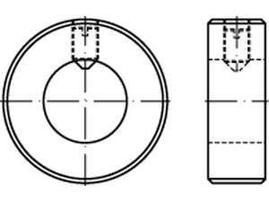 DIN 705 Stellringe Stahl Form A