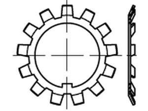 DIN 5406 Sicherungsbleche für DIN 981 Nutmuttern Stahl