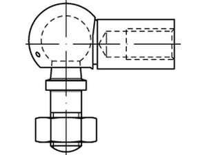 DIN 71802 Winkelgelenk verzinkt AS