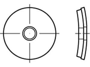 Fassadendichtscheiben mit aufvulkanisierter Dichtungslage Edelstahl A2