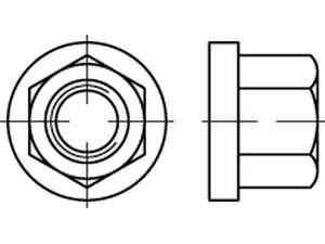 DIN 6331 Sechskantmuttern mit Bund Stahl Klasse 10 galvanisch verzinkt