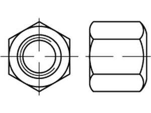DIN 6330 Sechskantmuttern Form B Stahl galvanisch verzinkt