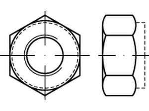 ISO 7040 Sechskantmuttern mit Klemmteil Edelstahl A2