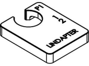 LINDAPTER-Ausgleichscheiben P1 lang Temperguss galvanisch verzinkt