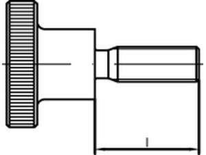 DIN 464 Rändelschrauben Stahl hohe Form