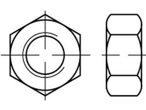 ISO 4032 Sechskantmuttern Stahl Festigkeitsklasse 5-2