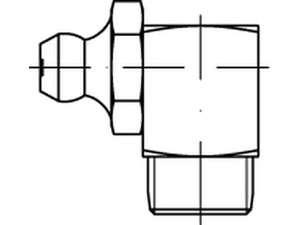 DIN 71412 Kegelschmiernippel Form C Stahl galvanisch verzinkt