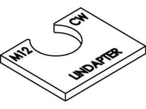 LINDAPTER-Ausgleichscheiben Typ CW Stahl galvanisch verzinkt