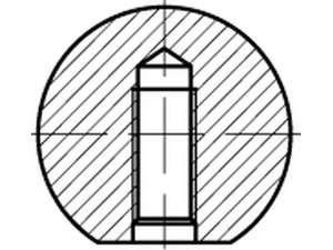 DIN 319 Kugelkopf Form C = mit Innengewinde schwarz