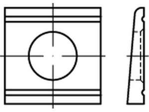 DIN 6918 HV Scheiben vierkant keilförmig 8 % Stahl feuerverzinkt