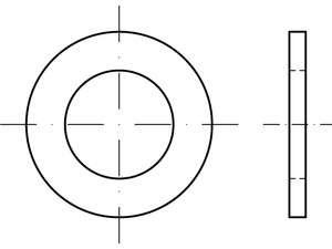 ISO 7092 Unterlegscheiben Stahl 200 HV