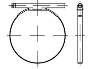DIN 3017 Schlauchschellen mit Schneckenantrieb W4 Edelstahl