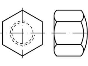 DIN 917 Sechskant-Hutmuttern niedrige Form Edelstahl A4