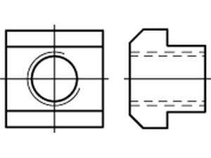 DIN 508 Mutter für T - Nuten Stahl Klasse 10