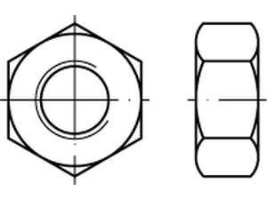 DIN 934 Sechskantmutter A4 Linksgewinde
