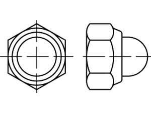 DIN 986 Sechskant-Hutmuttern mit Klemmteil Klasse 6 galvanisch verzinkt