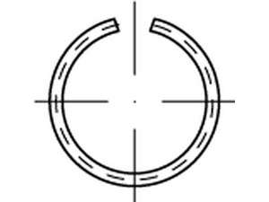 DIN 7993 Runddraht-Sprengringe Form A Federstahl