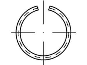 DIN 7993 Runddraht-Sprengring Federstahl A