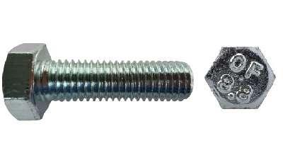 DIN 933 Sechskantschraube 8.8 galv. verzinkt