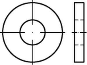 DIN 7349 Scheiben für Schrauben mit schweren Spannstiften Edelstahl A4