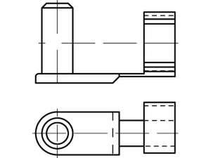 DIN 71752 Feder-Klapp-Bolzen für Gabelköpfe Stahl galvanisch verzinkt